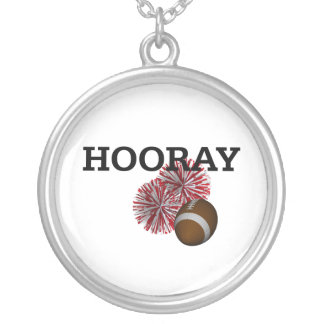 TOP Hooray Football Silver Plated Necklace