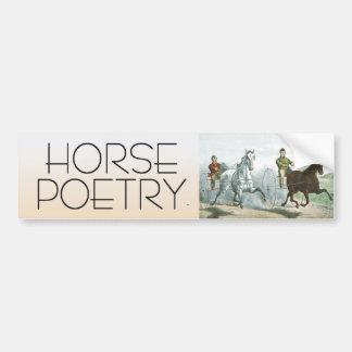 TOP Horse Poetry Bumper Sticker