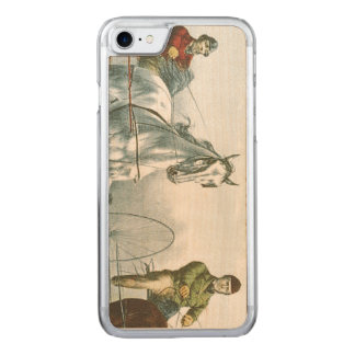 TOP Horse Poetry Carved iPhone 8/7 Case