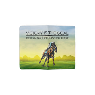 TOP Horse Race Victory Goal Pocket Moleskine Notebook