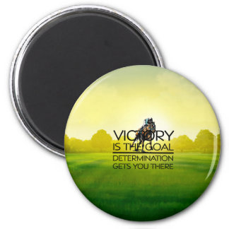 TOP Horse Race Victory Slogan 2 Inch Round Magnet