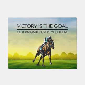 TOP Horse Race Victory Slogan Doormat
