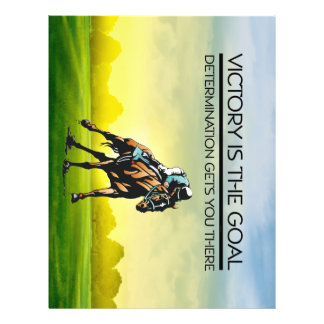 TOP Horse Race Victory Slogan Flyer