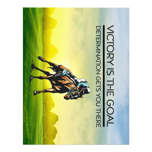 TOP Horse Race Victory Slogan Full Color Flyer