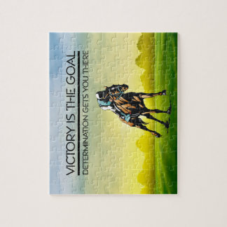 TOP Horse Race Victory Slogan Jigsaw Puzzle