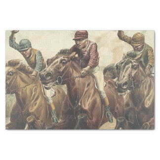 """TOP Horse Racing 10"""" X 15"""" Tissue Paper"""