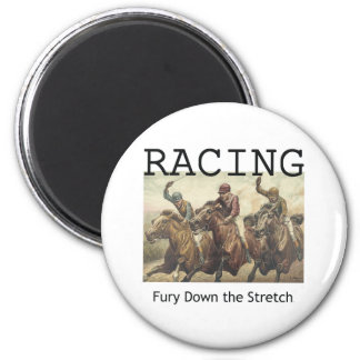 TOP Horse Racing 2 Inch Round Magnet