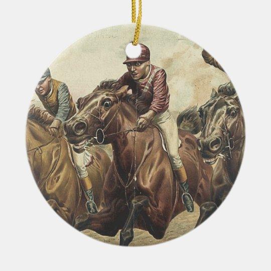 TOP Horse Racing Ceramic Ornament