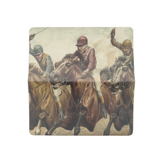 TOP Horse Racing Checkbook Cover