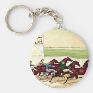 TOP Horse Racing Is My Life Basic Round Button Keychain