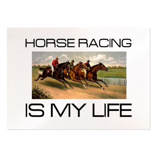 TOP Horse Racing Is My Life Business Card Templates