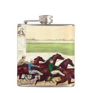 TOP Horse Racing Is My Life Hip Flask