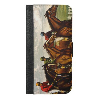 TOP Horse Racing is My Life iPhone 6/6S Plus Wallet Case