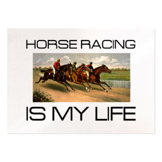 TOP Horse Racing Is My Life Large Business Card