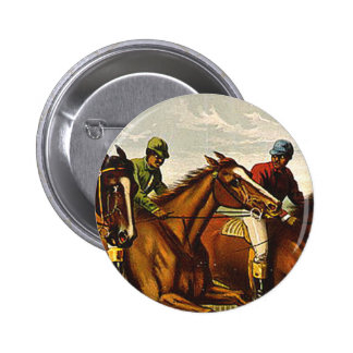 TOP Horse Racing Is My Life Pinback Button