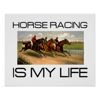 TOP Horse Racing is My Life Poster