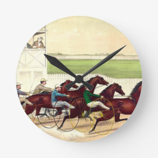 TOP Horse Racing Is My Life Round Wall Clock