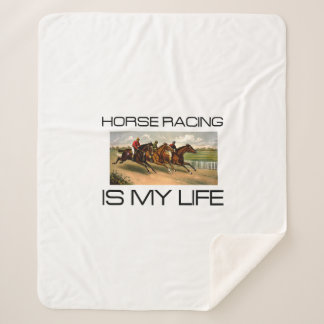 TOP Horse Racing Is My Life Sherpa Blanket