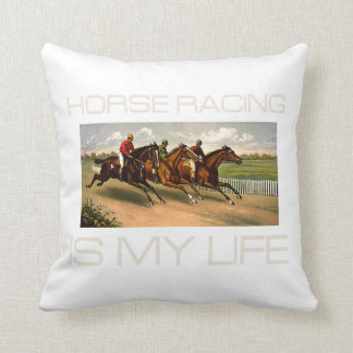 TOP Horse Racing Is My Life Throw Pillow