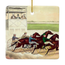 TOP Horse Racing Life Ceramic Ornament
