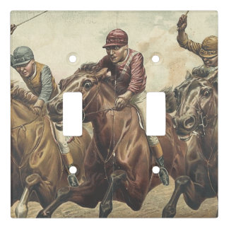 TOP Horse Racing Light Switch Cover