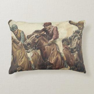 TOP Horse Racing Accent Pillow