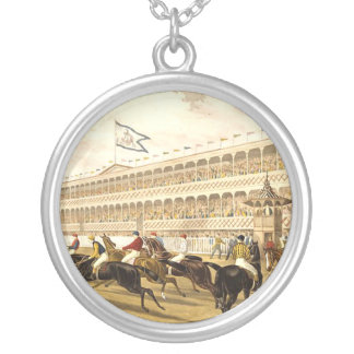 TOP Horse Racing Round Pendant Necklace