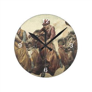 TOP Horse Racing Round Wallclock
