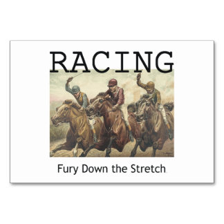 TOP Horse Racing Table Cards