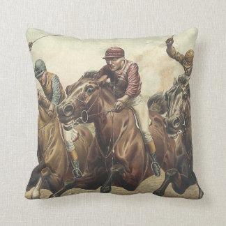 TOP Horse Racing Throw Pillow