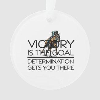 TOP Horse Racing Victory Slogan Ornament