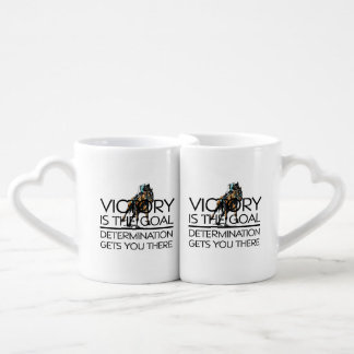 TOP Horse Racing Victory Slogan Couples' Coffee Mug Set