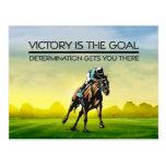 TOP Horse Racing Victory Slogan Postcard