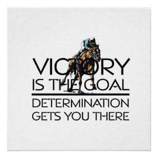 TOP Horse Racing Victory Slogan Poster