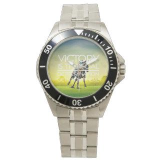TOP Horse Racing Victory Slogan Wristwatch