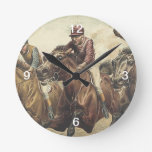 TOP Horse Racing Wall Clock