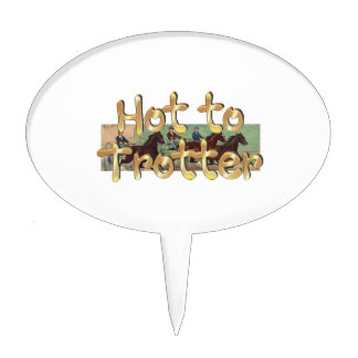 TOP Hot to Trotter Cake Topper
