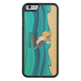 TOP Hungry Pelican Carved Maple iPhone 6 Bumper Case