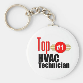 Top HVAC Technician Keychain