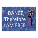 TOP I Dance Therefore I Am Business Card Template