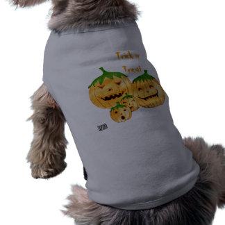 Top incorregible del perrito de las calabazas camisetas mascota