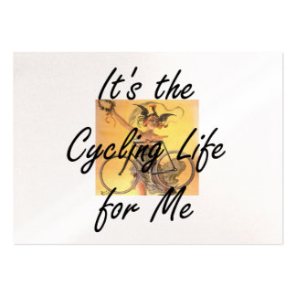 TOP It's the Cycling Life for Me Large Business Card
