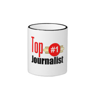 Top Journalist Ringer Coffee Mug