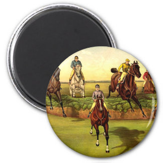 TOP Jump Race 2 Inch Round Magnet
