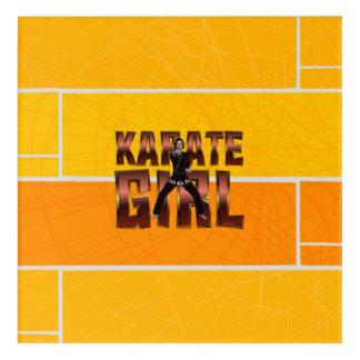 TOP Karate Girl Acrylic Wall Art