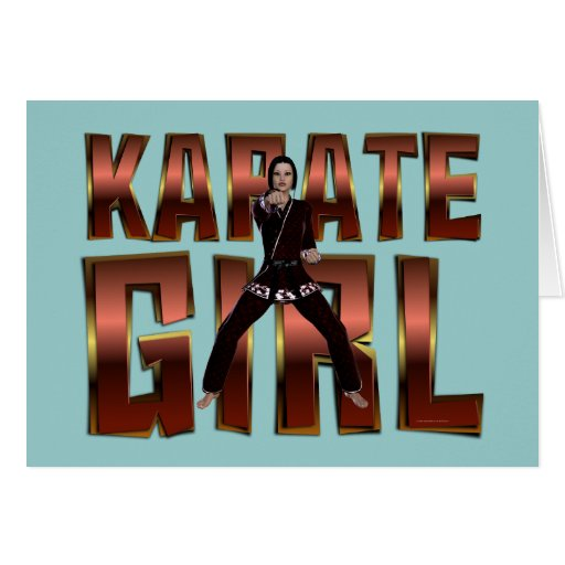 TOP Karate Girl Greeting Card