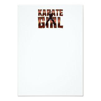 TOP Karate Girl Custom Invites