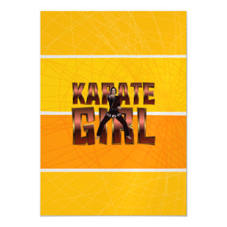 TOP Karate Girl Magnetic Card