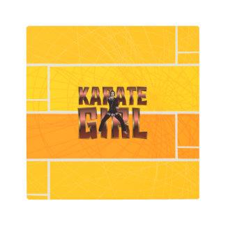 TOP Karate Girl Metal Print