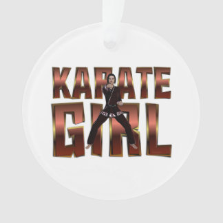 TOP Karate Girl Ornament